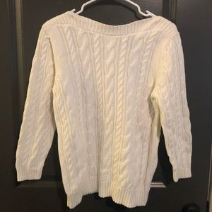 Knit Cream Land's End Sweater